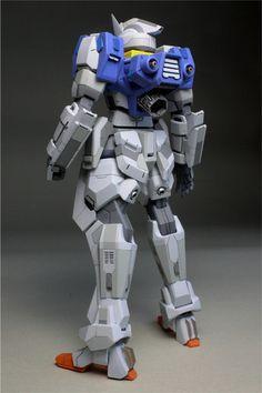 MODELER: RoboT  MODEL TITLE:  RG 1/144 Gundam AGE-1S Spallow  MODIFICATION TYPE:  custom panel line, color separation, scratch built parts, ...