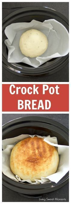 This soft Crock Pot Bread Recipe is super easy to make and does not require any rising time. Perfect for toast, sandwiches, a side for dinner and more. More slow cooker recipes at livingsweetmoments.c(Baking Chicken Crock Pot) Crock Pot Recipes, Crock Pot Brot, Easy Bread Recipes, Crock Pot Slow Cooker, Crock Pot Cooking, Slow Cooker Chicken, Cooking Tips, Healthy Recipes, Crockpot Meals