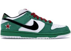 Buy and sell authentic Nike shoes on StockX including the Nike Dunk SB Low Heineken and thousands of other sneakers with price data and release dates. Retro Jordans 11, Nike Air Jordans, Nike Basketball Shoes, Nike Snkrs, Nike Elite Socks, Nike Sb Dunks, Nike Lebron, Dream Shoes, Heineken