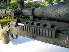 Sponge painted Remington M-700