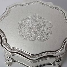Coat of Arms Jewellery Box - A classic jewellery box with a special Royal Coat of Arms engraving - a great gift for that special woman.