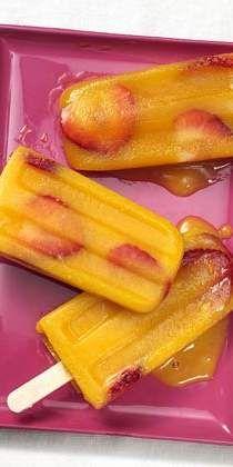 Strawberry-Mango Ice Pops
