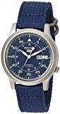 #9: Seiko Men's SNK807 Seiko 5 Automatic Stainless Steel Watch with Blue Canvas Band http://ift.tt/2cmJ2tB https://youtu.be/3A2NV6jAuzc