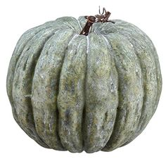 7'Hx6.5'W Artificial Pumpkin -Antique Green (pack of 12) -- Visit the image link more details.