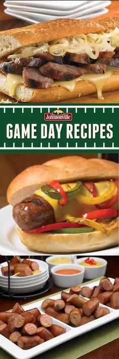 The Reuben Brat Hoagie, Philly Brat, and Sausage Dippers are sure to be a hit at your Super Party! Get ready for Game Day with these awesome Johnsonville recipes! #football