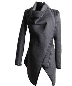Zeagoo Fashion Women Slim Fit Woolen Coat Trench Coat Long Jacket Outwear Overcoat ((US S(2), Grey) $27.99