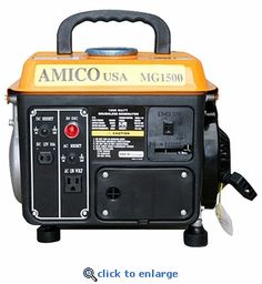 AMICO MG1500 Portable Gasoline Generator 1000 Watt - Emergency Generators