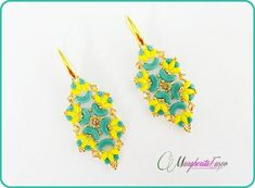 Mango earrings tutorial. Pdf pattern with minos by 75marghe75