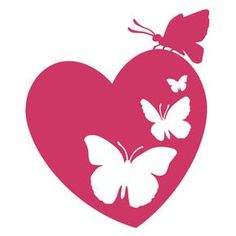Silhouette Design Store - View Design #119492: butterfly heart