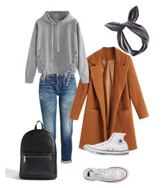 """Senza titolo #72"" by rockyourpetiteness on Polyvore featuring moda, 7 For All Mankind, WithChic, Converse, Lulu in the Sky e Forever 21"