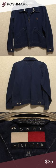 Tommy Hilfiger cotton jacket Tommy Hilfiger cotton jacket for cool summer nights or weekends sailing.  Great classic piece. Tommy Hilfiger Jackets & Coats Blazers
