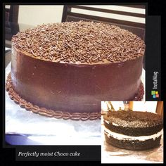 Perfectly moist Chocolate cake with Marshmallow filling and Whipped Chocolate frosting