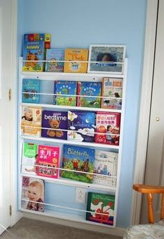 behind the door bookcase...I have wanted a narrow bookcase for a long time now, but this is a great new twist!