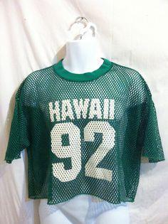Vintage 1992 HAWAII FOOTBALL Jersey/ Original by sweetVTGtshirt, $15.00