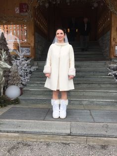 Robe de mariée Nanyn hiver montagne robe courte chic styliste ...