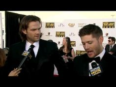 ▶ Jensen Ackles and Jared Padalecki at the 2014 Critics' Choice Movie Awards Red Carpet - YouTube