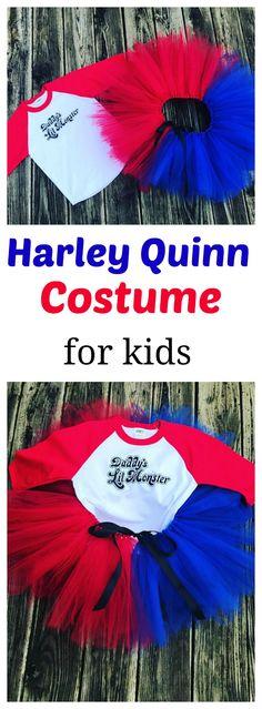 Harley Quinn costume kids, tutu costumes for kids, daddys little monster harley quinn #affiliate link
