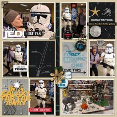 Disney Star Wars Future Jedi digital scrapbook layout using Project Mouse (Galaxy): by Sahlin Studio