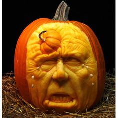 Bizarre Halloween Jack O'Lantern pumpkin carving by Ray Villafane