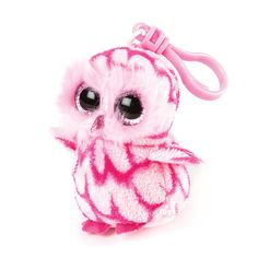 Ty Beanie Boos Pinky the Owl Plush Clip On