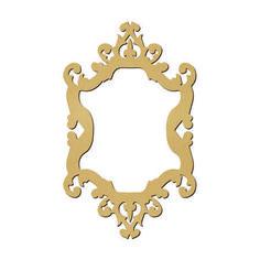 Sujet en bois médium - Photobooth cadre baroque arabesque - 55 x 33,6 cm