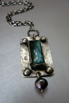 Labradorite Necklace with Sterling Silver by pmdesigns09 on Etsy, $159.00
