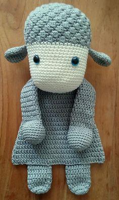 Lappenpop schaap, uit het boekje Lappenpoppen haken