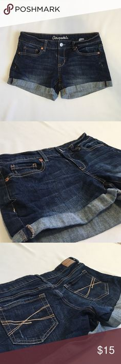 Aeropostale denim shorts Only worn twice! No damage! This is a size 6 midi. Feel free to ask any questions and don't be scared to make an offer! Aeropostale Shorts Jean Shorts