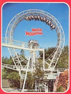 Six Flags Magic Mountain...Valencia, CA...back when the Revolution had the largest loop.  LOL  Boy has that changed!