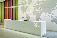 The Style Examiner: Contract Magazine Announces 2013 Interiors Awards Winners Office Reception Area, Lobby Reception, Reception Counter, Reception Design, Reception Areas, Environmental Graphics, Environmental Design, Office Space Design, Lobby Interior