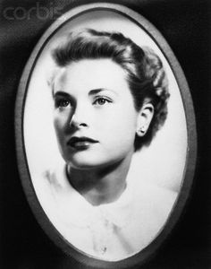 Portrait of young Grace Kelly as she graduated from the American Academy of Dramatic Arts.