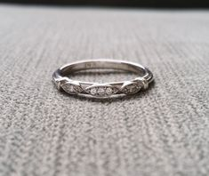 Hey, I found this really awesome Etsy listing at https://www.etsy.com/ca/listing/385483188/victorian-diamond-wedding-band-etched