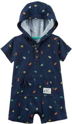 13b7faa17e3c Baby Boy Carter s Bugs Hooded Romper