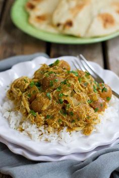 This flavorful Instant Pot Chicken Curry with Potatoes can be cooked in minutes in the pressure cooker or simmered on the stovetop.