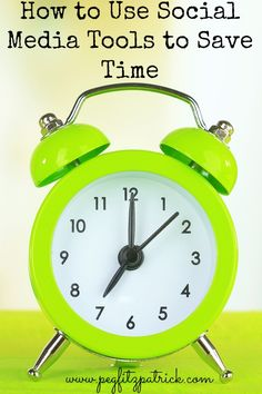 How to Use Social Media Tools to Save Time http://pegfitzpatrick.com/2013/09/16/how-to-use-social-media-tools-save-time/