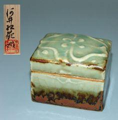 Ceramic Box by Japanese Pottery Master Kawai Kanjiro