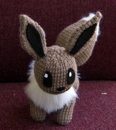 pokemon (I think it's an eevee?) amigurumi. Apparently my mum wants me to try making one for her!