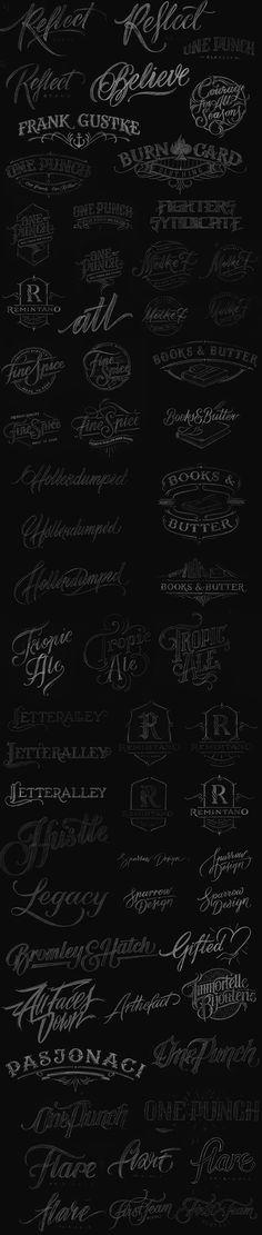 Handlettered Logotypes 3 on Behance By Mateusz Witczak