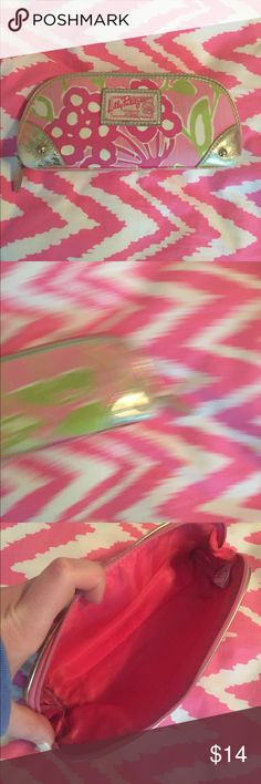 Lilly Pulitzer Pencil Case Used condition with signs of wear on corners, inside, etc. Lilly Pulitzer Accessories