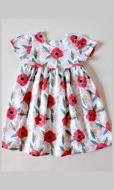 poppy pattern easter t-shirt dress for toddlers. #spring #toddler #affiliate