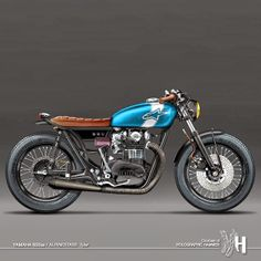 "Cafè Racer Concepts - Yamaha XS 650 ""Alpinestars"" by Holographic Hammer"