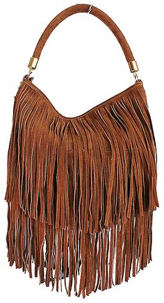 e9e68d81a32e Alexis Italian Fringed Tan Suede Leather Hobo Satchel Bag - £49.99