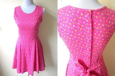 pink sheath dress (small) by VintageHomage on Etsy