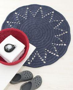 Crochet Mat, Crochet Carpet, Crochet Fabric, Manta Crochet, Fabric Yarn, Crochet Home, Crochet Doilies, Crochet Patterns, Knit Rug