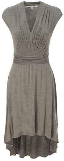 Max Studio Pleat Detail Dress, Grey on shopstyle.co.uk