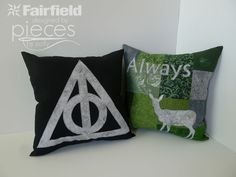 Pieces by Polly: Harry Potter Always and Doe Patronus Pillows Harry Potter Nails, Harry Potter Theme, Harry Potter Diy, Deathly Hallows Symbol, Harry Potter Deathly Hallows, Diy Craft Projects, Sewing Projects, Diy Crafts, Sewing Ideas