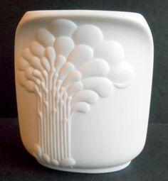 "AK Kaiser Matte Oval White Vase Bisque Porcelain 4""H Mid Century W. Germany #669"