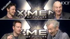 Michael Fassbender, James McAvoy, Patrick Stewart and Ian McKellen do impressions of each other in our exclusive X-Men: Days Of Future Past interview  Such great, great actors!