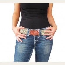 Narrow Beaded Stretch Belt- Natural Color with Wood Buckle $26.00  http://www.keepyourpantson.com/new-arrivals