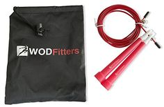 WODFitters Ultra Speed Cable Jump Rope for Cross Training and Cardio Fitness and Free Guide for Sizing and Mastering Double Unders Great for Double Unders Triple Unders RX WODs or Speed Jumping Fully Adjustable with Carrying Case Best Jump Ropes for Workout and Exercise Great Addition to Speed and Agility Training Kits and Jumping Trainers Adjustable Speed Rope  Red * You can get more details by clicking on the image.